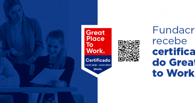 Fundacred recebe certificação do Great Place to Work